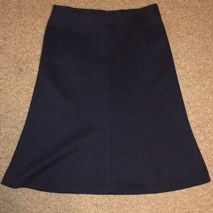 Loft navy skirt